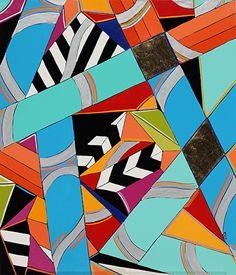 "Serie Aleatoire 27 by Michele A Caron  ~ 7"" x 6"""