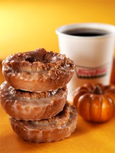 It's Pumpkin Spice Doughnuts season at Krispy Kreme.