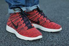 #nike lunar #flyknit chukka Red Burgundy #Sneakers