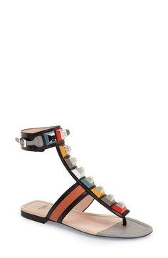 7834124d34db60 Fendi Fendi  Rainbow  Studded Colorblock Gladiator Sandal (Women) available  at  Nordstrom