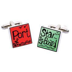 Port/Starboard Cufflinks  $55 Sonia Spencer, www.michaelcfina.com