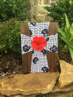 Houston Texans Cross.Texans.Houston.NFL.Football.Texans Decor.Texans Room.Texans Gift.Football Fan.Texans Fan.Bulls on Parade.Texas.Cross by FabricCrossDecor on Etsy