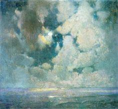 Søren Emil Carlsen (1853-1932): The Ocean at Sunrise.