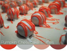 Easy Pumpkin Cheesecake Truffles Recipe! ~ perfect for your Fall Parties! #truffle #recipes