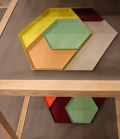 "Modular trays ""Kaleido"" by Clara von Zweigbergk for Hay"