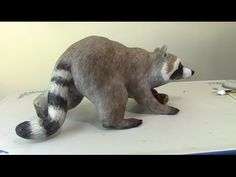 Paper Mache Raccoon Final – Features and Fur | Ultimate Paper Mache