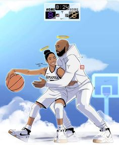 Basketball tips and ideas Kobe Bryant Family, Lakers Kobe Bryant, Basketball Art, Love And Basketball, Basketball Videos, Basketball Workouts, Basketball Birthday, Basketball Drawings, Bryant Basketball