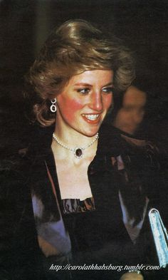 1985 02 03 Diana attends a Shirley Bassey Concert at St David's Hall in Cardiff in aid of the International Youth Year