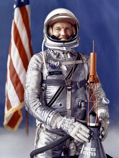 """Gordon """"Gordo"""" Cooper, the last American to be launched alone to conduct an entirely solo orbital mission, born on March 6, 1927 in Shawneed Oklahoma"""