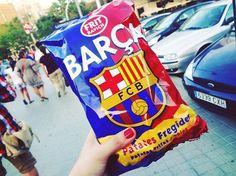 Oh yeah! Barça chips #patates #Barcelona #barça