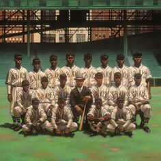 Homestead Grays. Painting by Kadir Nelson