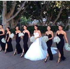 The bridesmaids look stunning!