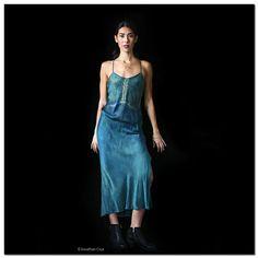 Silk Slip Dress Naturally-Dyed Bias-Cut Eco Fashion от MatangiMaa