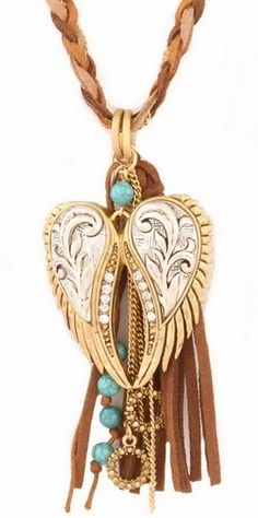 Hippie Angel Wing Necklace