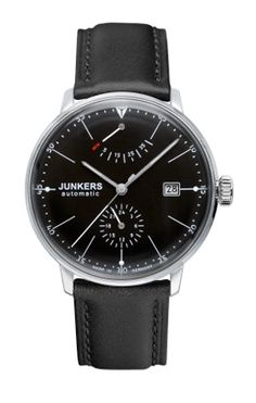 Junkers Bauhaus Power Reserve Automatic Watch. $550