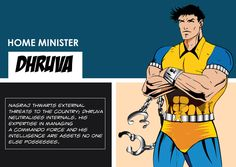 Dhruva as a Home Minister Home Minister, Indian Comics, Comic Character, Super Powers, Comic Art, Characters, Figurines, Cartoon Art, Graphic Novels