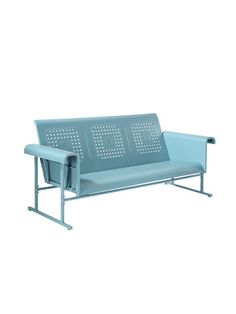 I've always liked these retro sofa gliders for a porch :)