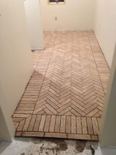 Mudroom entryway floor