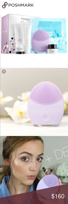💄ForeoLUNA2 for SensitiveSkin with BelifBrighter 😍😍😍Brand new $275 value with original box and skin care products, recommended by Kathleen Lights 🎀🎀🎀                                                                                        👛👛👛No Trade, sorry 🛍🛍🛍                                                       💰💰💰Bundle and Save💸💸💸 Foreo LUNA 2 Makeup Brushes & Tools