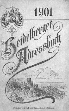 UB Heidelberg: Heidelberger address books - digital
