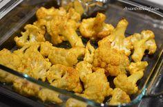 Roasted Turmeric Cauliflower... Turmeric: anti-inflammatory, fights depression, fights colds & flu!
