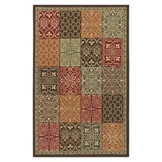 Shaw Living Santa Fe Rectangular Brown Block Tufted Area Rug (Common: 8-ft x 10-ft; Actual: 8-ft x 10-ft)