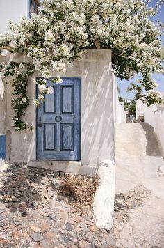 Door detail, typical house, Aljezur, Algarve, Portugal