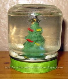 baby food jar snowglobes