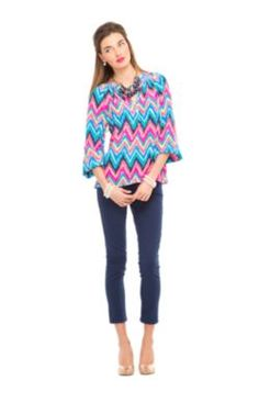 Elsa Top, Lilly Pulitzer - Fall 2013 - Who said you can't do bright colors for Fall?