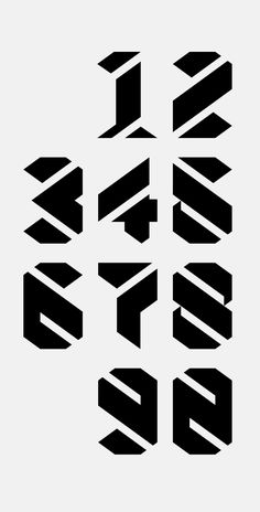 Nestival Numerals – Bespoke lettering on Behance