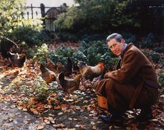 Prince Charles among the chickens and roosters