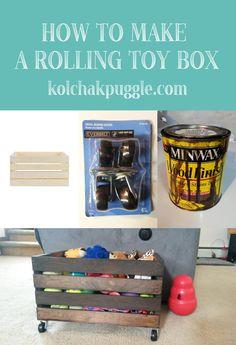 DIY Wood Crate Rolli