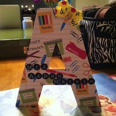 End of the year school gift for Madison's teacher.