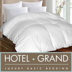 You'll be sleeping in comfort with this machine-washable down alternative luxury comforter. This 1,000-thread-count comforter has a cotton cover that is filled with polyester and features baffle-box construction so that it keeps its loft all night long.