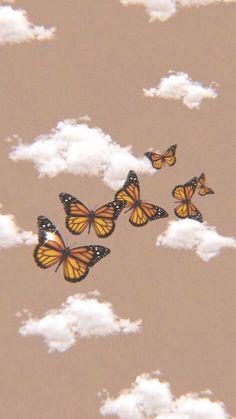 Iphone Homescreen Wallpaper, Trippy Wallpaper, Retro Wallpaper, Iphone Wallpaper Tumblr Aesthetic, Aesthetic Pastel Wallpaper, Aesthetic Wallpapers, Butterfly Wallpaper Iphone, Iphone Background Wallpaper, Beauty Iphone Wallpaper