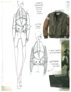 Fashion Sketchbook page - fashion design development with fashion drawings &… Fashion Portfolio Layout, Fashion Design Sketchbook, Fashion Sketches, Fashion Drawings, Fashion Illustrations, Fashion Flats, Fashion Art, Womens Fashion, Technical Drawing