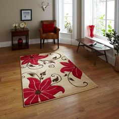 Brayden Studio This Lossett Red Rug range is fantastic value for money! Its made with a polypropylene pile which is hard-wearing, non-shedding, stain resistant and very easy to clean. Rug Size: Runner 60 x Duck Egg Blue Rugs, High Pile Rug, Floral Rug, Floral Design, Machine Made Rugs, Red Rugs, Home Additions, Rugs Online, Modern Rugs