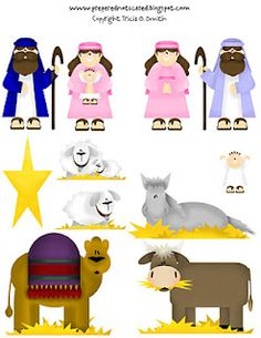 The Nativity Story to print and laminate for small hands, good story telling aid.