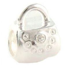 Gems and Silver White Handbags Birthstone Charms  Fit pandora,trollbeads,chamilia,biagi,soufeel and any customized bracelet/necklaces. #Jewelry #Fashion #Silver# handcraft #DIY #Accessory Pandora Accessories, Pandora Jewelry, White Handbag, Birthstone Charms, Necklaces, Bracelets, Birthstones, Diy Jewelry, Gems