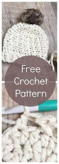 Criss Crocc Chunky Hat: FREE crochet pattern