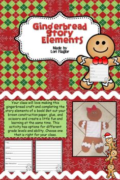 Your class will love making this gingerbread boy or girl!