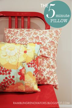 5 minute pillow