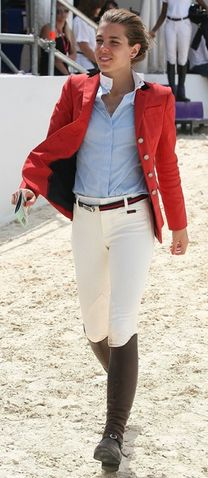 Charlotte Casiraghi- equestrian Oh, how I wish I could wear the red jacket!!