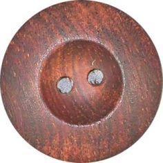 Dark Wood Button w/Rim
