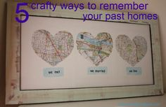 5 ways to showcase your past homes and places that you have lived. In military life, we move a lot so it is nice to be able to give a tribute to the places we have made our homes.
