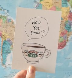 @cindymangomini Friends Joey how you doin'? postcard. #centralperk #friends #friendstvshow #joey #howyoudoin #centralperkmug #centralperkcoffee