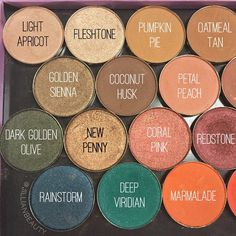 Single pan eyeshadow in various shades.