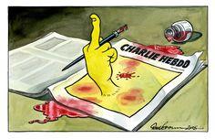 Dessinateurs du monde entier, tous Charlie. Dessin de Dave Brown (Grande-Bretagne) pour The Independent En savoir plus sur http://www.lemonde.fr/grands-formats/visuel/2015/01/08/dessinateurs-du-monde-entier-tous-charlie_4551870_4497053.html#2OoVarFT6RQXumwB.99