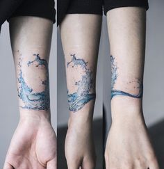 Wave Tattoo by Sol