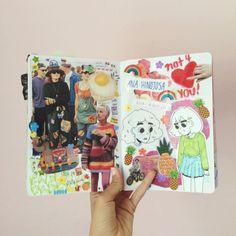 The Skinny Artist Bullet Art, Bullet Journal Art, Art Journal Pages, Art Journals, Kunstjournal Inspiration, Sketchbook Inspiration, Art Sketches, Art Drawings, Art Diary